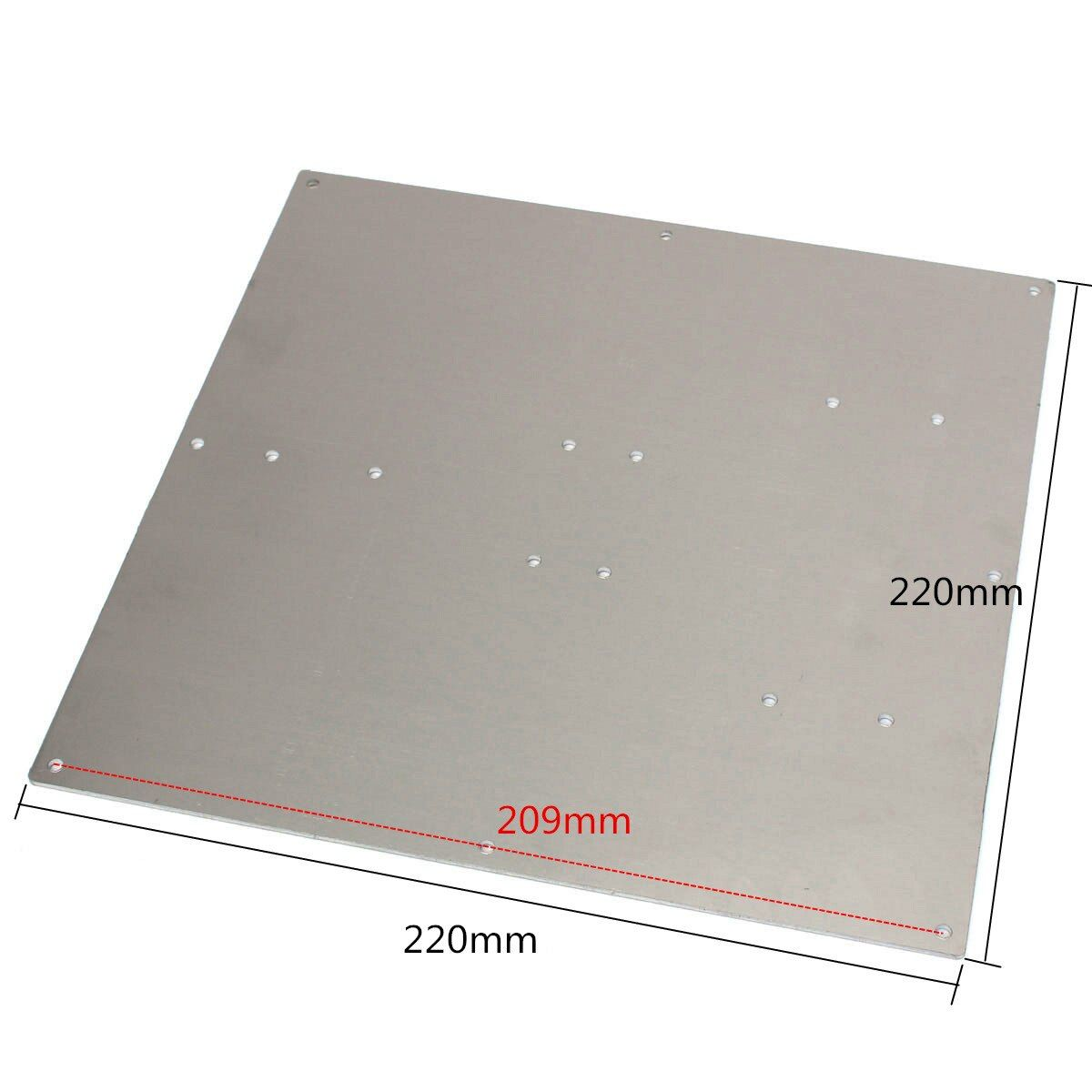 Anodized Aluminum Heated Bed Buld Plate For 3D Printer For RepRap