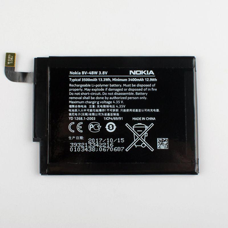 New Original Nokia BV-4BW phone battery for Nokia Lumia 1520 MARS Phablet RM-937 Bea Lumia1520 BV4BW <font><b>3500mAh</b></font>