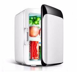 10 L refrigerador del coche 220 V/12 V Mini refrigerador congelador coche/casa de doble uso pequeña nevera caja fría caja caliente