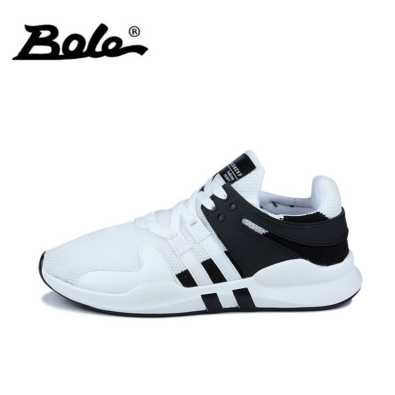 BOLE Summer Mesh Breathable Men Sneakers Fashion Men Casual Shoes Lace Up Non-slip Men Flat Shoes Male Casual Shoes