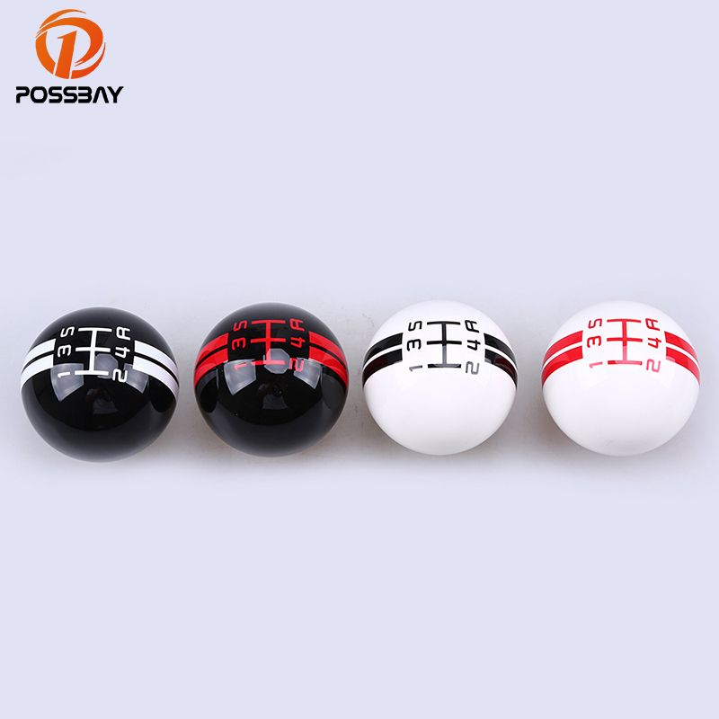 POSSBAY 5/6 Speed Gear Shift Knob Shifter Lever Knob for Honda Civic Ford Peugeot Citroen  Manual Transsmission