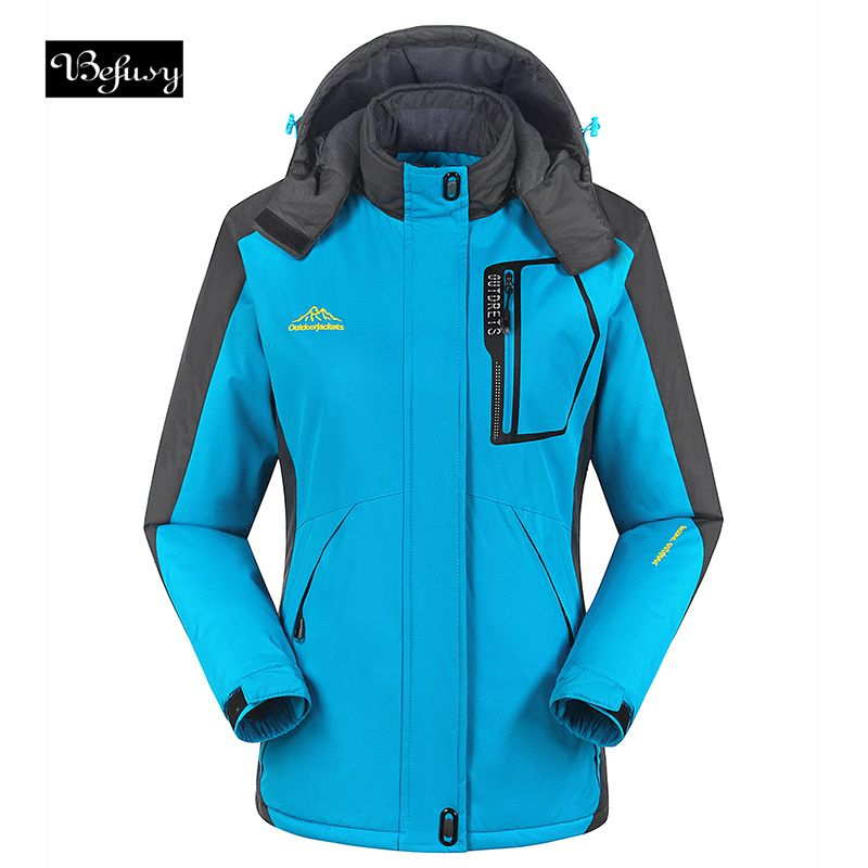 Befusy Lady's Windproof Waterproof Women Ski Jackets Winter Warm Outdoor Sport Snow Skiing Snowboarding Female Hiking Coats