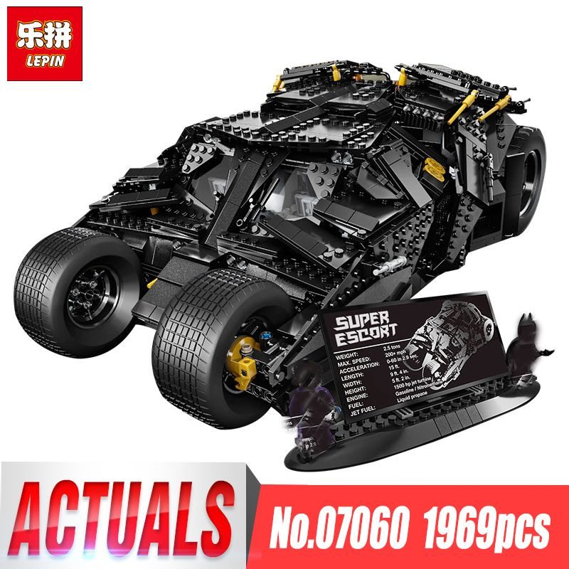 LEPIN 07060 NEW Super Hero Movie Series 1969Pcs The Batman Armored Chariot Set 76023 Building Block For Kids Bricks Toys