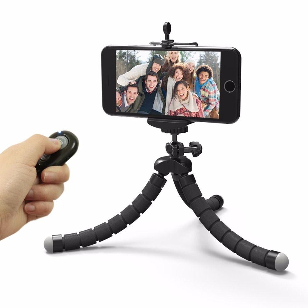 Hot sales Mini Flexible Camera Phone Holder Flexible Octopus Tripod Bracket Stand Holder Mount Monopod Styling Accessories