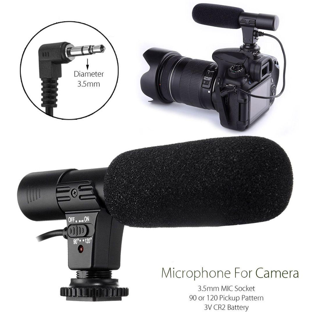 Mayitr 3.5mm Mic-01 Recording Microphone Digital Video DV Camera Studio Stereo Mic For Canon Nikon DSLR Camera DV Camcorder