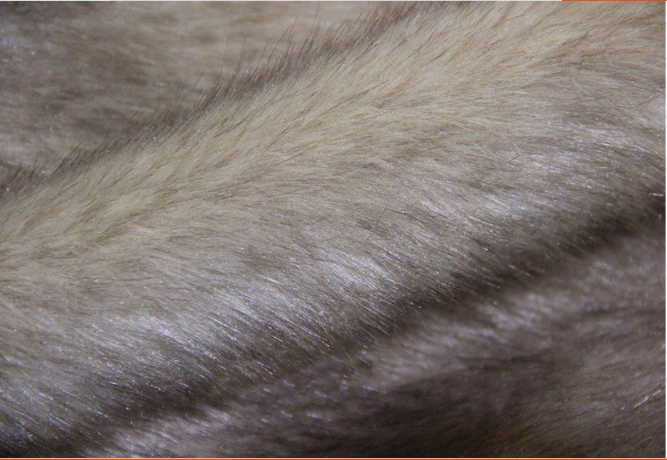 Hochwertigen kunstpelz stoff, 2-3 cm pile Kamel farbstoff spitze pelzdecke, nachahmung fuchspelz, Schal patchwork tuch, 170 cm * 50 cm/pcs