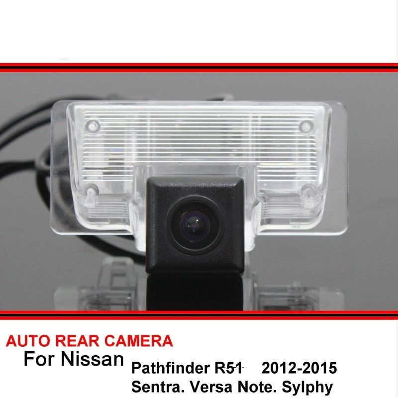 For Nissan Pathfinder R51 Sentra Versa Note Sylphy HD CCD Car Reverse Backup Rear View Camera Rearview Parking Night Vision