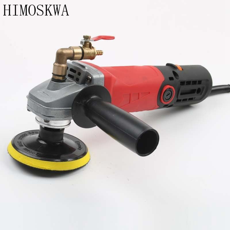 HIMOSKWA Variable Speed Water Mill Portable Water Filled Grinding Machine Electric Stone Hand Wet Polisher Grinder