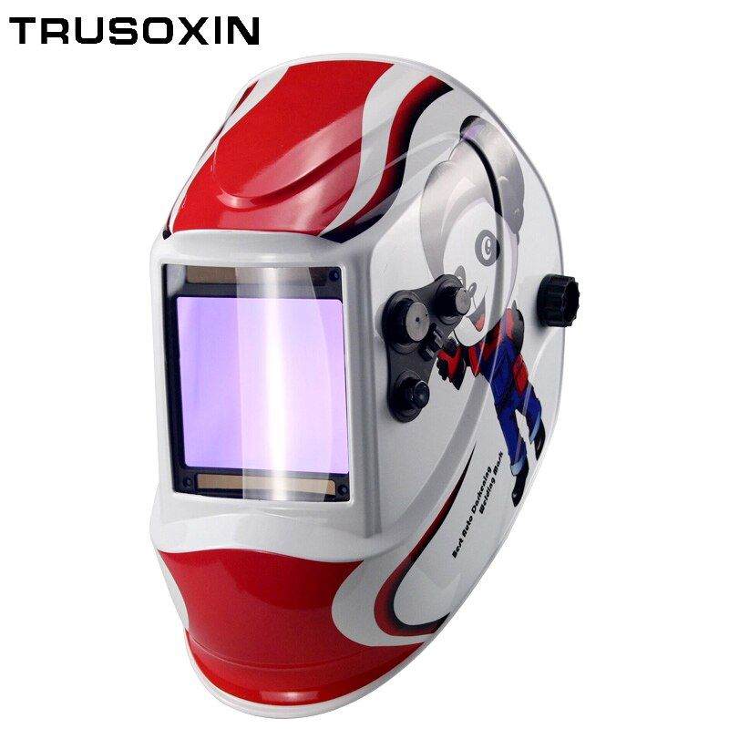 Out control Big view eara 4 arc sensor DIN5-DIN13 Solar auto darkening TIG MIG MMA welding mask/helmet/welder cap/lens/