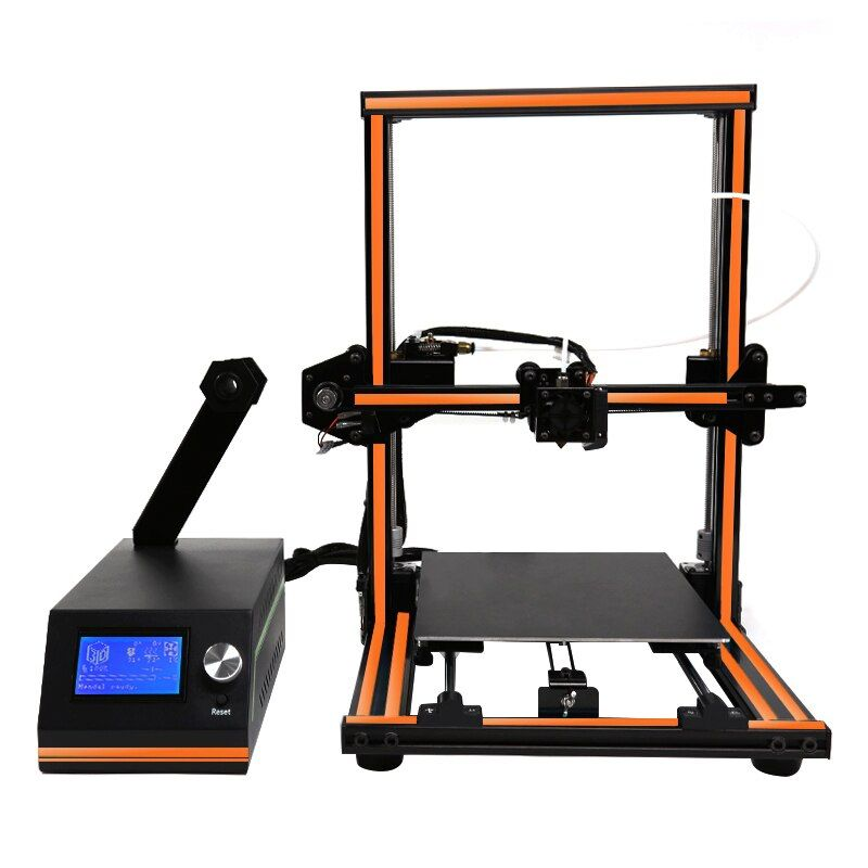 Anet E12 10 Minutes to Assembly Plus Size 3d Printer Remote Feeding Design Elegant Aluminum Frame Impresora 3d Large 12864 LCD