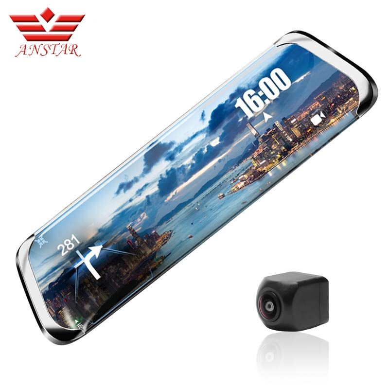 ANSTAR Dash Cam full HD 1920x1080P Car DVR Camera Rear View Mirror ADAS WiFi 10''IPS 4G Video Camera Russian Language Registrar