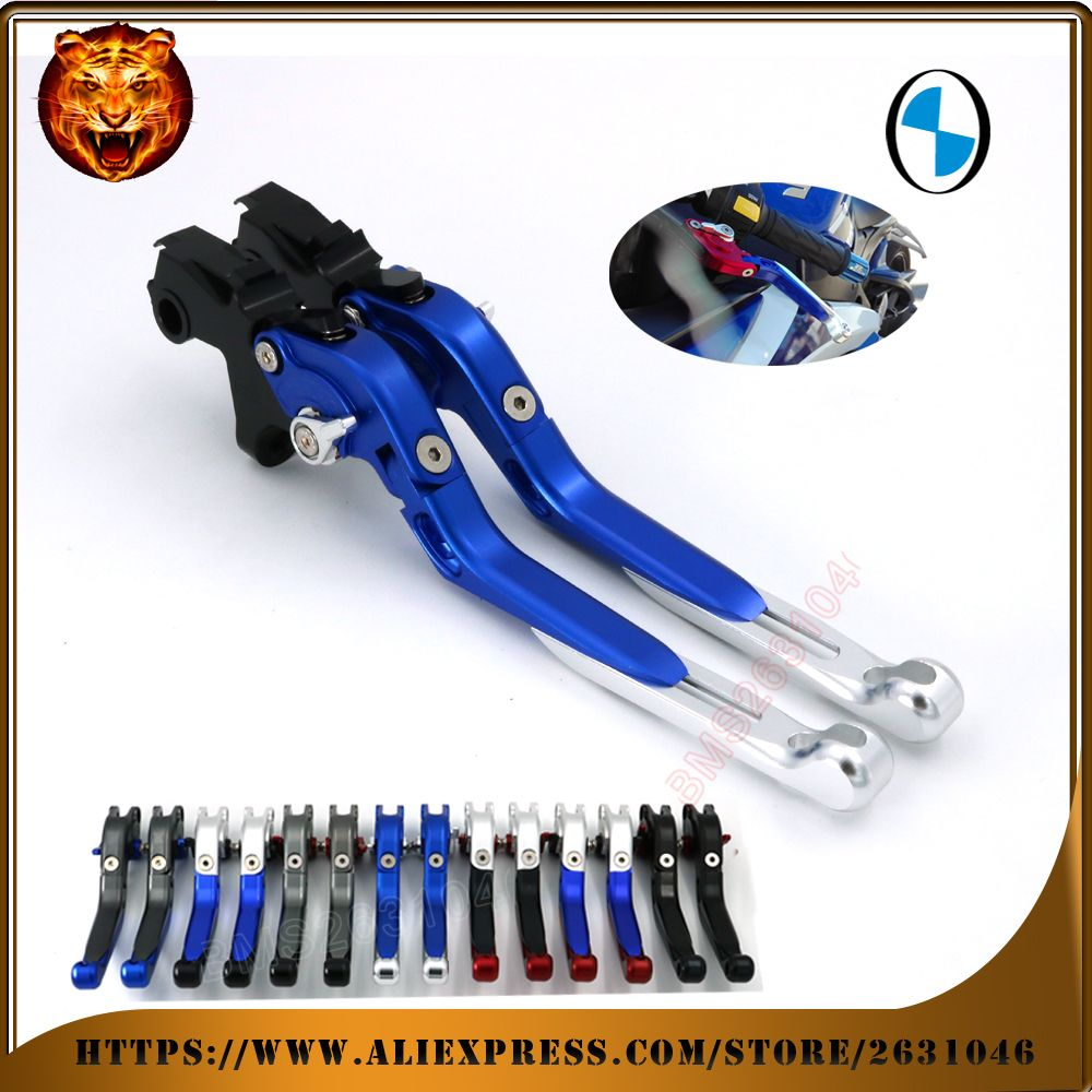 For BMW K1200GT K1200LT R1200RT R1150GS ADVENTURE R1150R BLUE BLACK Motorcycle Adjustable Folding Extendable Brake Clutch Lever