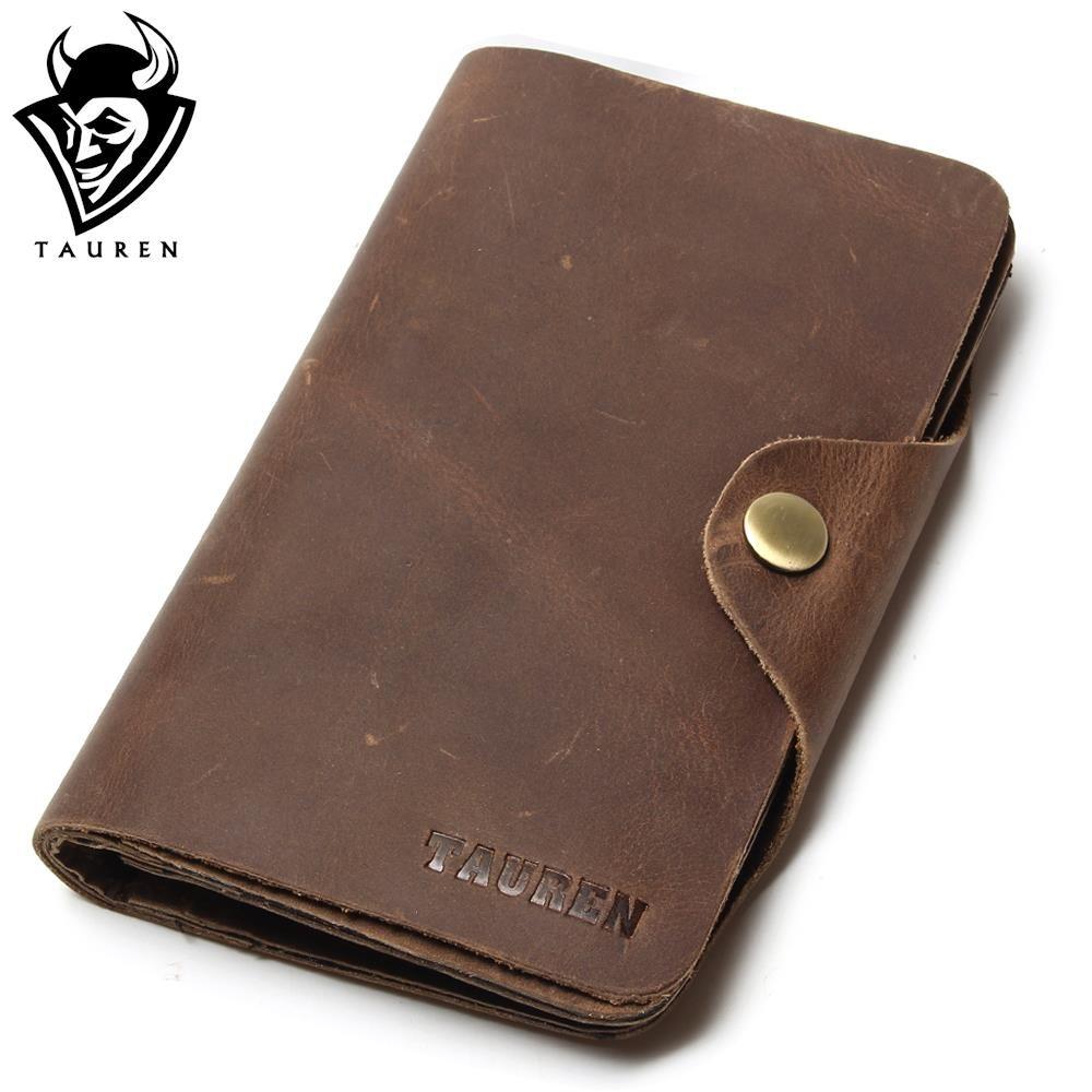 Long Travel Wallet For Men Real Crazy Horse Leather Purse Card Holder Hot Selling Free Ship Men's Vintage Wallets