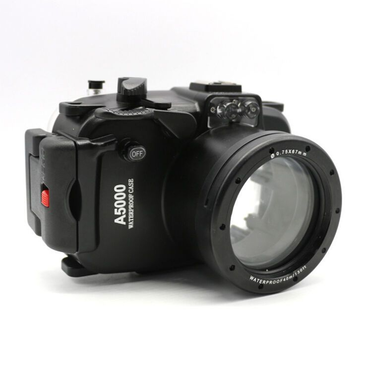 40m 130ft Waterproof Underwater Diving Camera Housing Case for Sony A5000 16-50mm lens