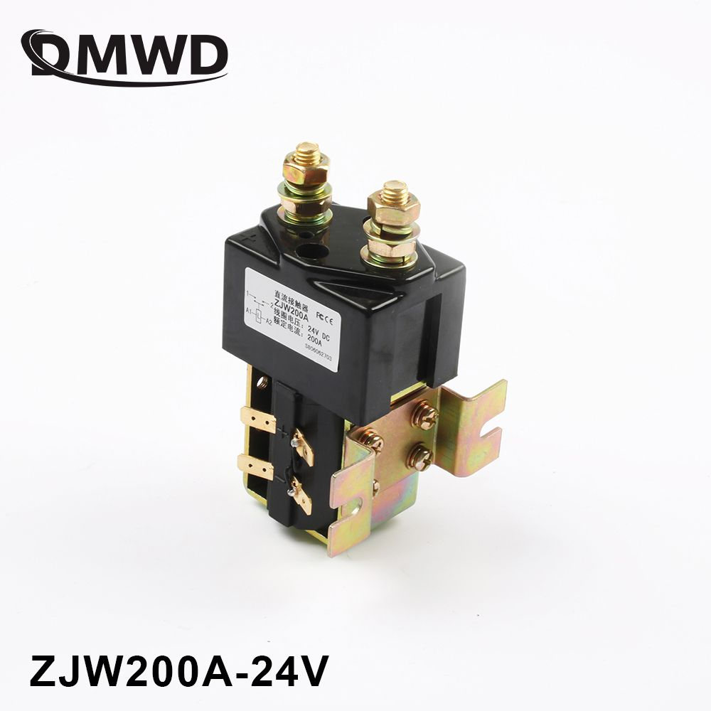 SW180 NO (normally open ) style 12V 24V 36V 48V 60V 72V 200A DC Contactor ZJW200A for forklift handling wehicle car winch