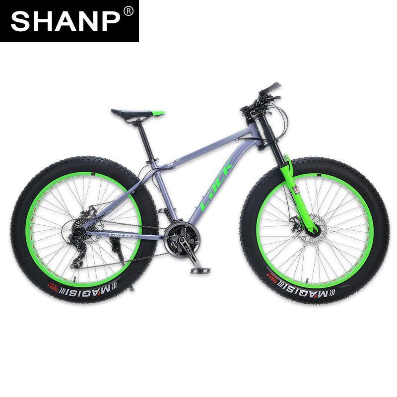 LACK Mountain Bike FatBike Steel Frame 24 Speed Shimano Disc Brakes 26