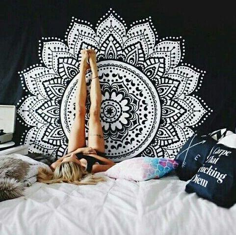 200*150 cm Yin Yang Imprimé Lotus Tapisserie Bohême Mandala Tapisserie Tenture Décoration Murale Hippie Tapisserie Plage De Yoga tapis