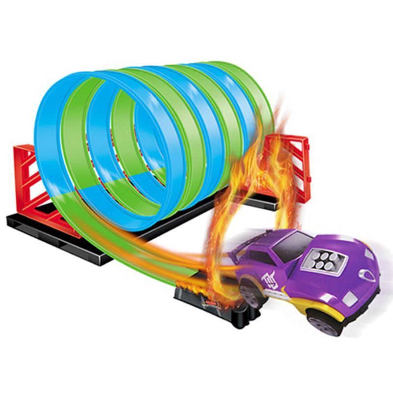 Children Hot Wheels track small sports car racing track warrior cyclotron assembling toys assembled track toy combination