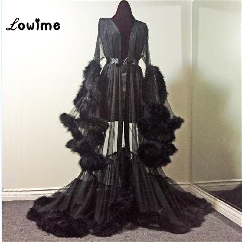 Arabisch Frauen Abendkleid Feder Prom Kleider Robe De Soiree Mit Langen Ärmeln Illusion Marokkanischen Kaftan Kleid Vestidos