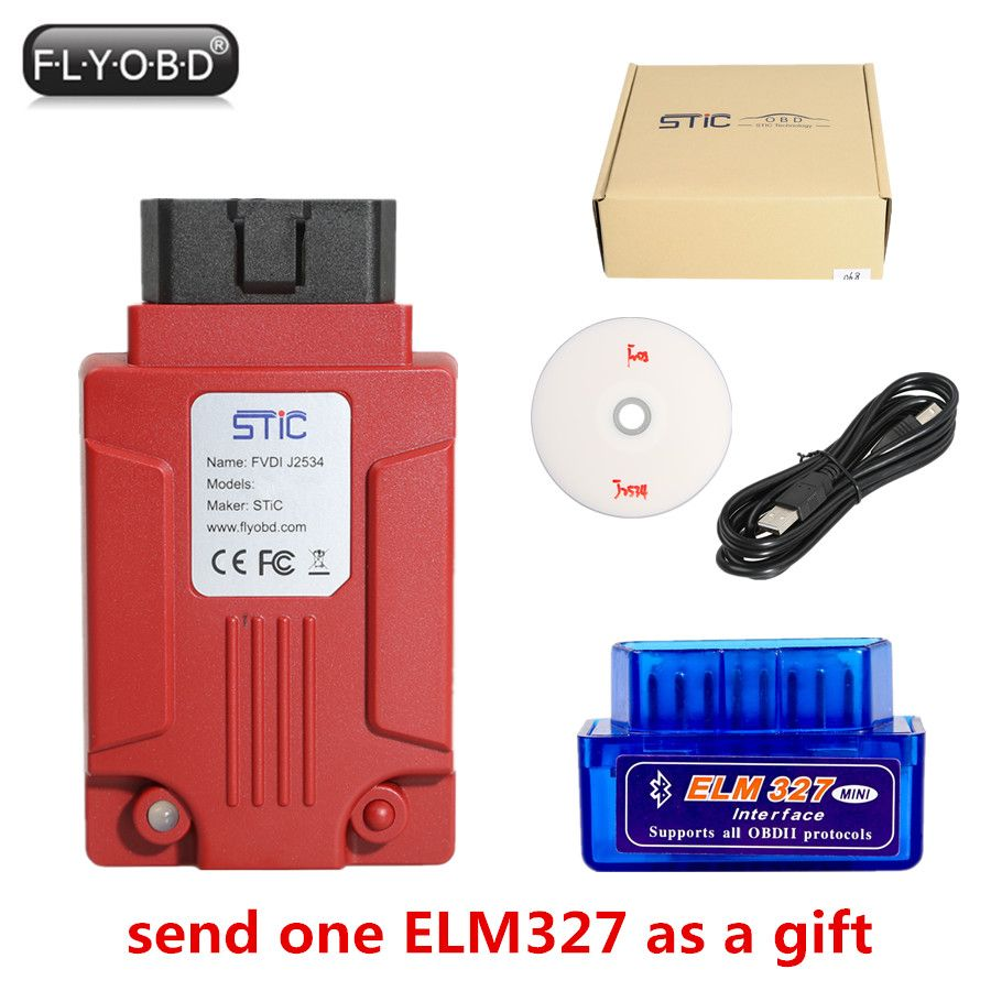 FVDI J2534 Diagnostic Tool for F-o-r-d & Mazda Support Online Module Programming Support Most of ELM327 Software