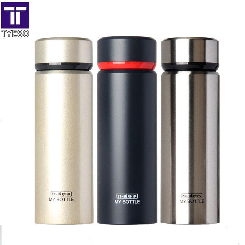 Thermos en acier inoxydable tasse thé termos inox paille thermo portable sac bouteille d'eau dans le bureau maison voiture bon cadeau flacon noir