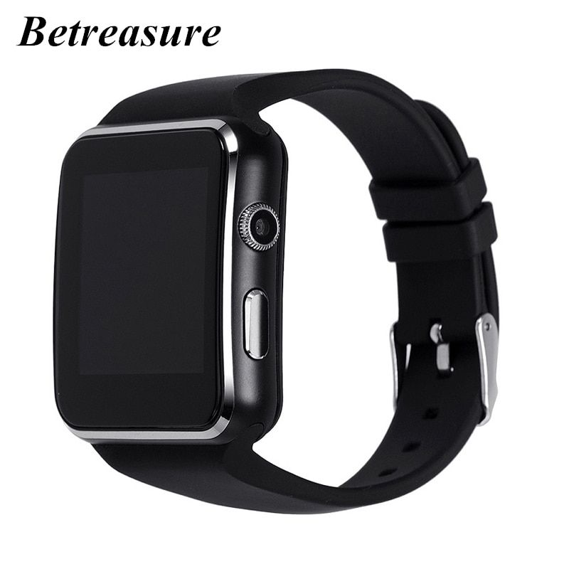 Betreasure X6 Curved Screen Smart Watch Bluetooth Camera Support SIM TF Card SmartWatch For Android iOS Smartphone PK A1 GT08