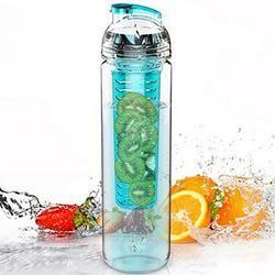 Hot 900ml Cycling Sport Fruit Lemon Infusing Juice Water Bottle Health Eco-Friendly Plastic Detox Bottle Flip Lid
