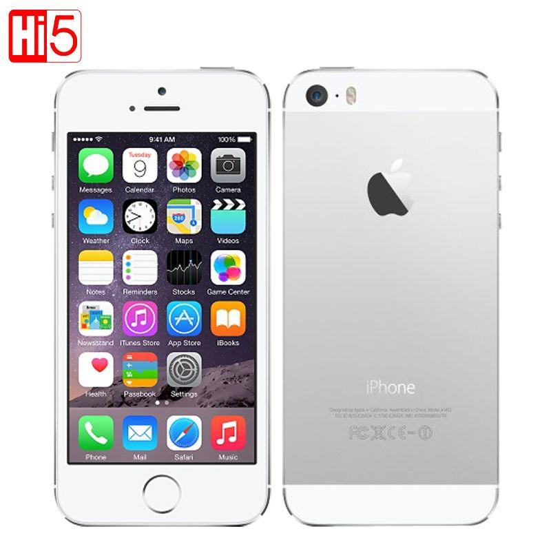Apple iphone 5s Handy Fabrik Entsperrt IOS Touch ID 4,0 16 gb/32 gb/64 gb ROM WCDMA wiFi GPS 8MP original Smartphone verwendet