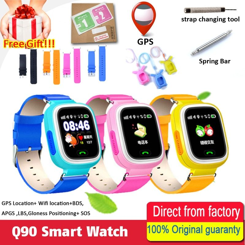Smart baby Watch Q90 WIFI <font><b>Touch</b></font> Screen GPS Tracker smart watch jphone for kids safe SOS call Location devices Anti-Lost reminder