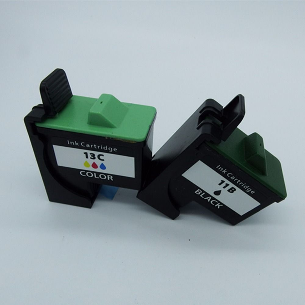 2 Pcs 1 Set Reman Ink Cartridges Cartridge For Lenovo 11 &13 11B 13C 3310 3300 3210 3200 2210 2200 M720 M620E Inkjet Printer