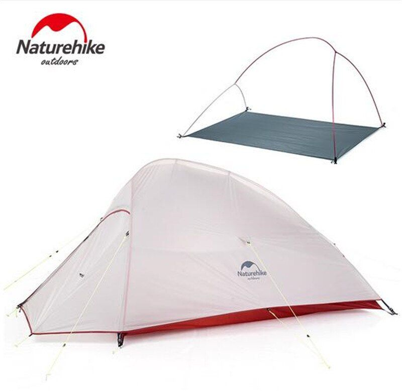 Naturehike Outdoor 2 Person Camping Tent 20D Nylon Silicone Ultralight Tent With Mat For Couple Hiking Trip Cloud Up 2 Update