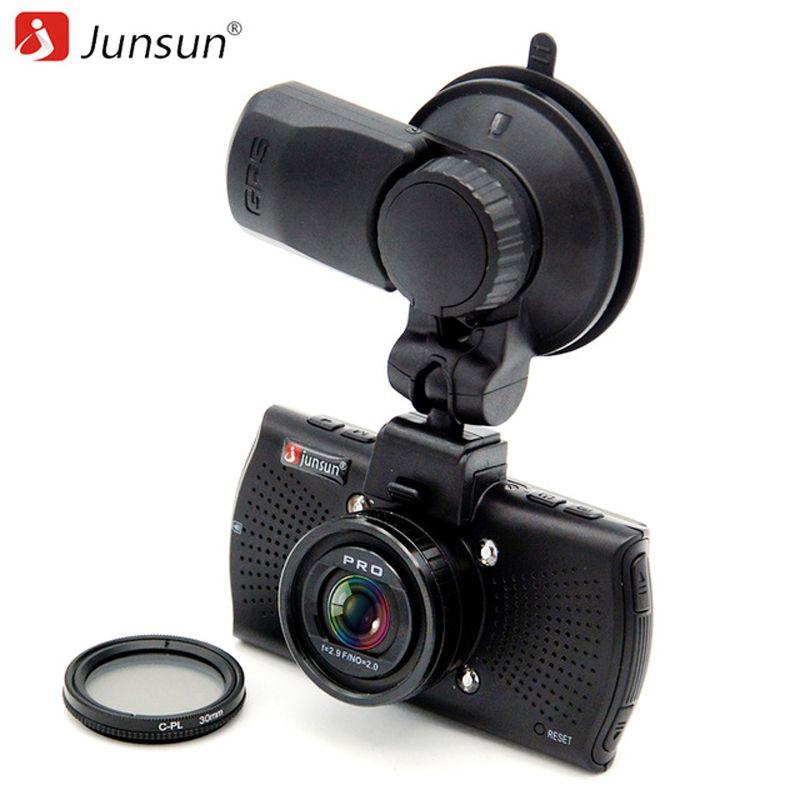 Junsun A7810 Ambarella A7LA70 Car DVR Camera GPS with Speedcam 1296P Full HD 1080p 60Fps Video Recorder Registrar Dash Cam