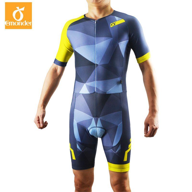 EMONDER Radfahren Triathlon Skinsuit Overall Männer Ropa Ciclismo Pro Radfahren Kleidung Trikots Anzug Bike Sport