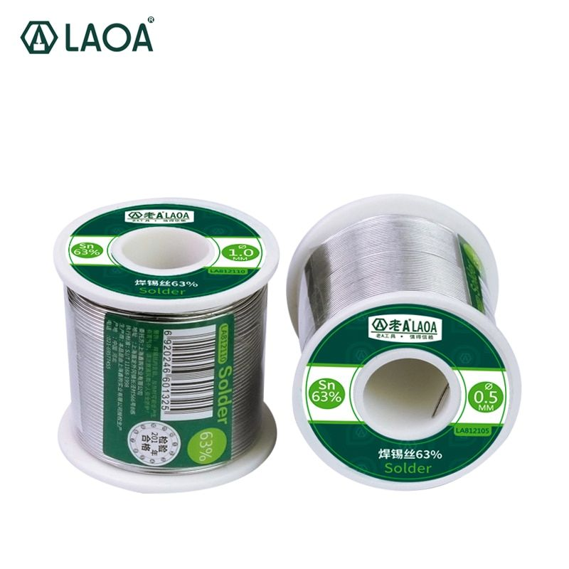 1 PCS 400G LAOA 63% Tin Content 0.8-2.3mm Solder Wire Welding Wires solder stick tin wire