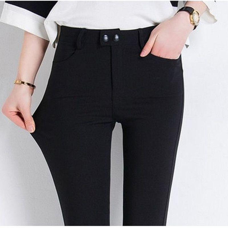 HziriP 6 Colors All-Match Women Pants High Quality Slim Stretch Pencil Pants High Waist Trousers Pantalon <font><b>Femme</b></font> Plus Size S-3XL