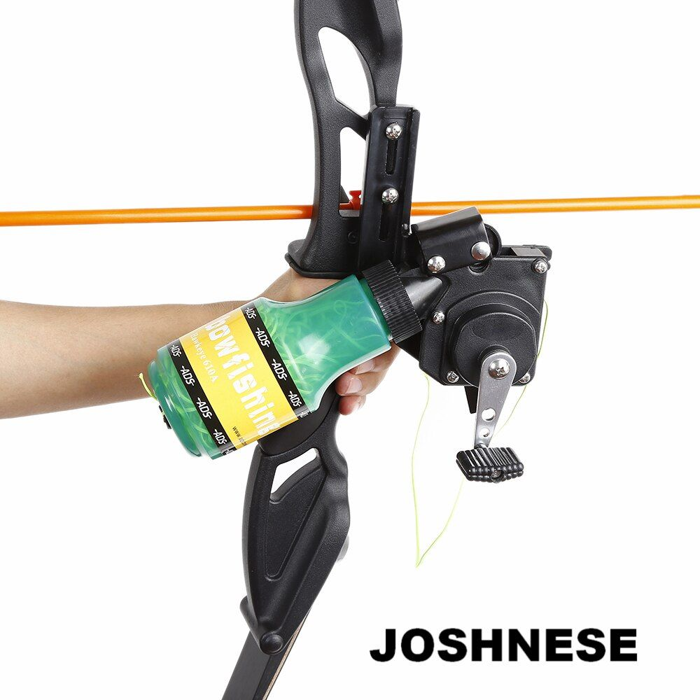 JOSHNESE Archery Recurve Bow Fishing Spincast Reel for Compound Bow Shooting Tool Fish Hunting Bow Fishing Slingshot Hot Sale