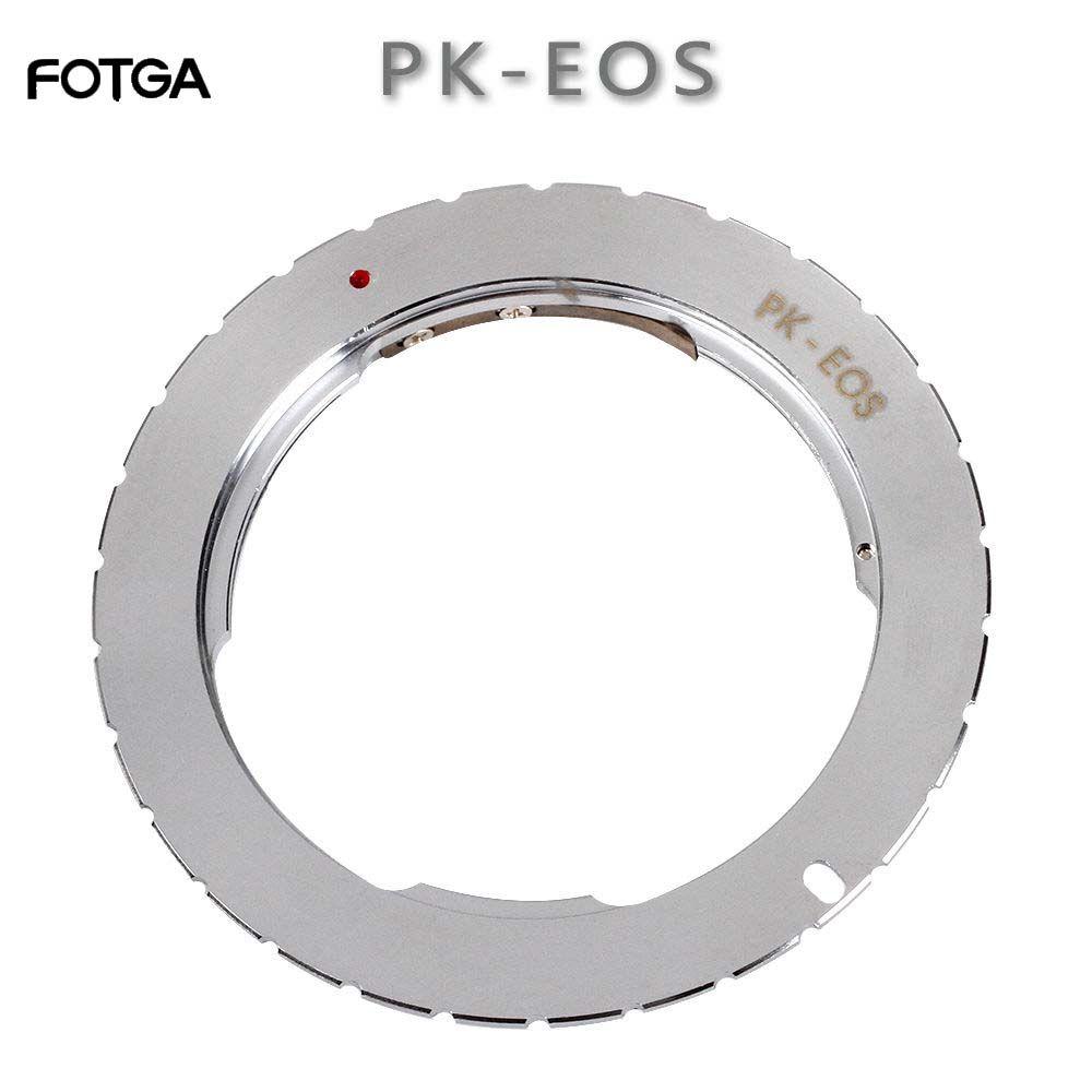 Bague d'adaptation pour monture FOTGA pour objectif Pentax PK vers Canon EOS 760D 750D 800D 1300D 70D 7D II 5D III