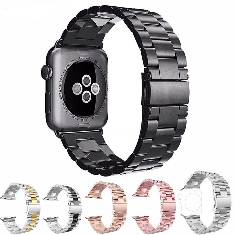 Mode Inoxydable Montre En Acier de Courroie De bande pour apple Watch 42 mm38 mm lien bracelet Remplacement bracelet pour iwatch serise1 2 3 4