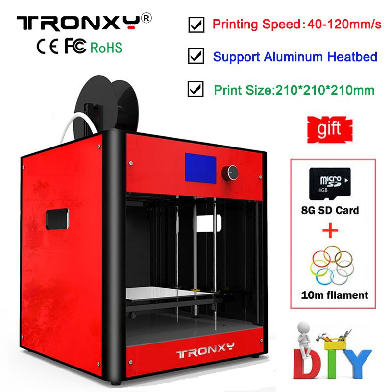 2018 Metal 3D Printer kit 3d Printing High Precision colorful Desktop Printer High Quality Frame Reprap DIY Assembly +8G SD Card