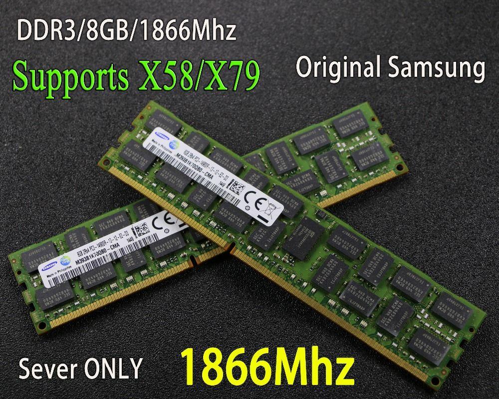 original Samsung 8GB DDR3 1333MHz 1600Mhz 1866Mhz 8G 1333 1600 1866 REG ECC server memory RAM 16gb 16g 32gb 32g x79 x58 2011