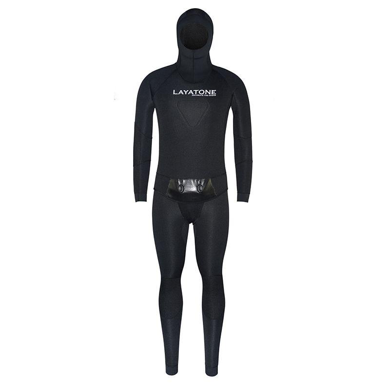 3mm Neoprene Wetsuit Swimwear With Vest For Men Winter Fishing Spearfishing Underwater Hunting Scuba Diving Swimming Pesca Black