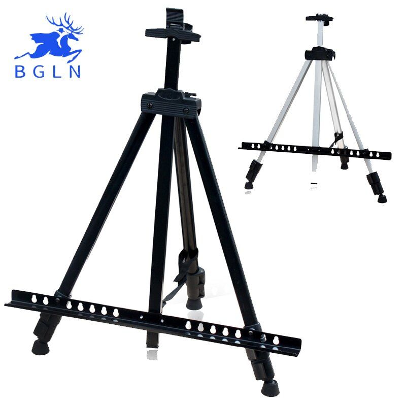 Bgln Sketch Easel Foldable Easel Display Aluminum Alloy Easel Sketch <font><b>Drawing</b></font> Frame For Artist Art Tools 0301