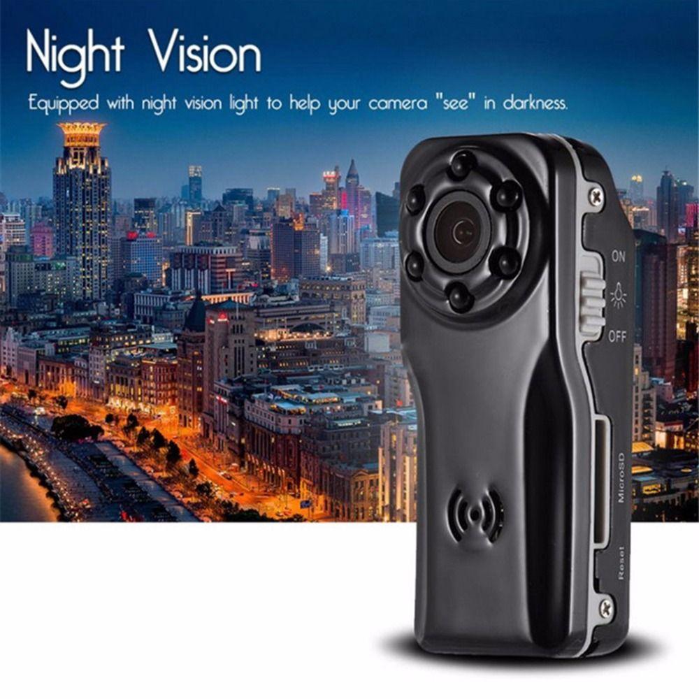 Mini 1080 P Nachtsicht-kamera S80 Professionelle HD 120 Grad Weitwinkel Digitalkamera DV Bewegungserkennung Schwarz
