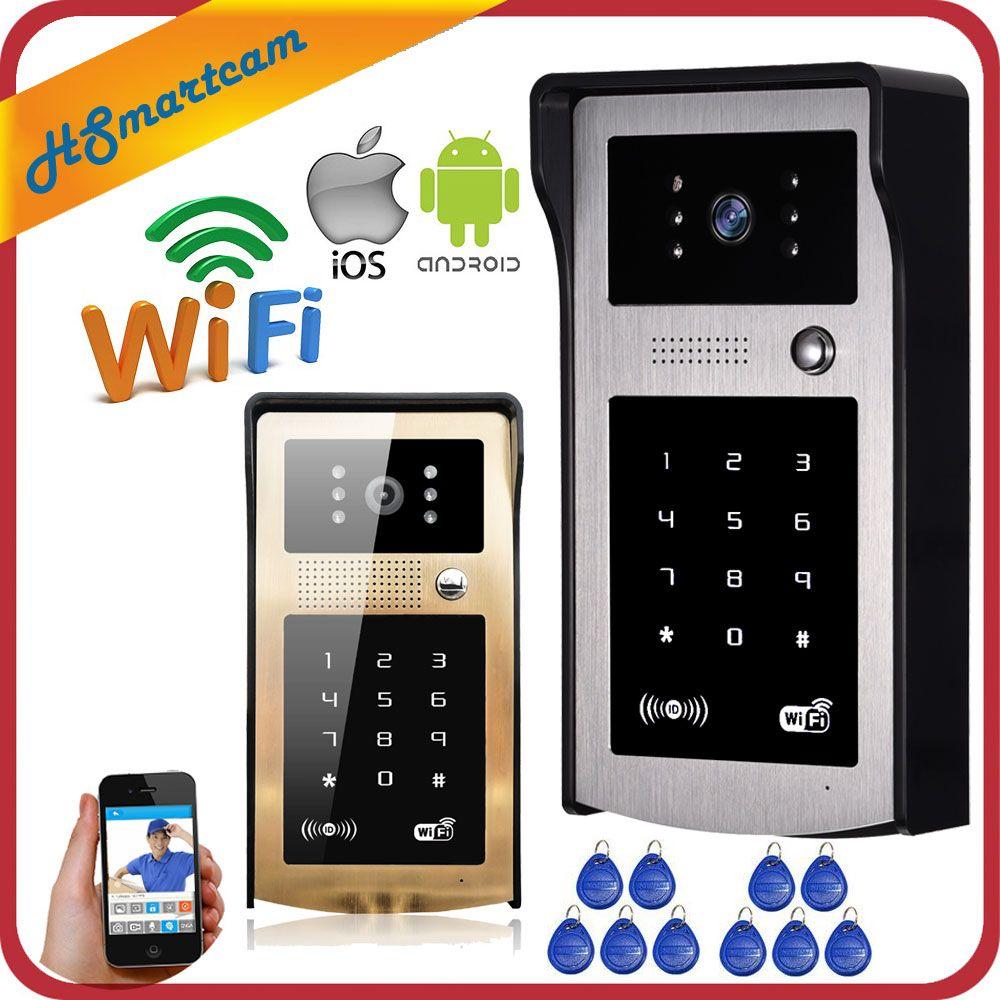 Nueva IP Wireless Timbre de la Puerta Con 720 P 3G/4G Teléfono Con Cámara De Vídeo WIFI timbre de La Puerta RFID Teclado Numérico HD Cámaras de INFRARROJOS para IOS Android 8 UNIDS