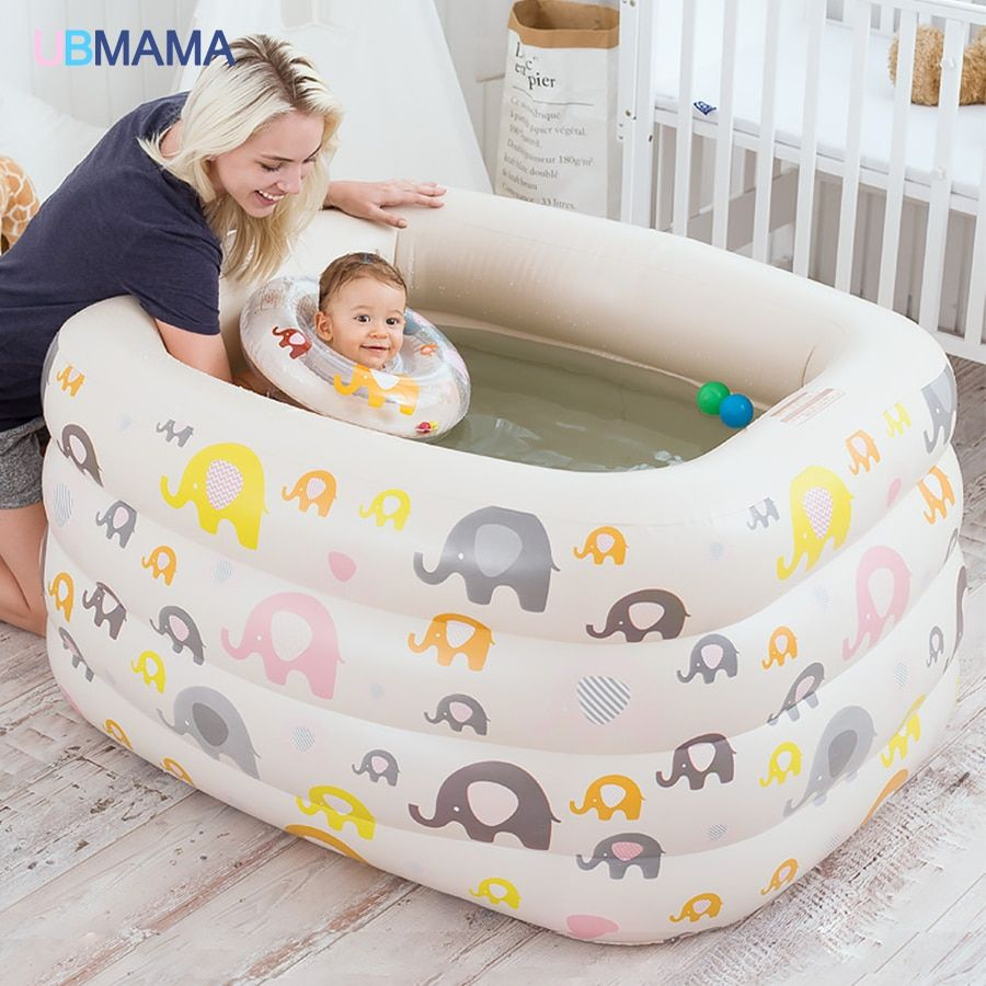 Cartoon insulation plastic inflatable square four children baby swimming pool pool bath newborn baby swimming pool
