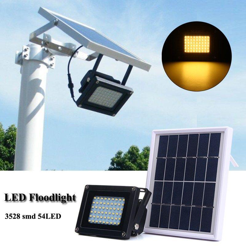 Sensor de Luz 3528 SMD Impermeable IP65 54 LED Solar Panel Solar LED Jardín Luz de Inundación Del Reflector Al Aire Libre de Seguridad de la Lámpara de Pared