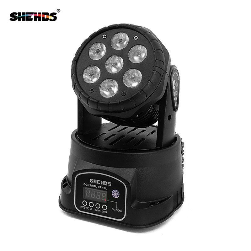 Expédition rapide LED lavage de tête mobile 7x12 w RGBW éclairage Quad avec advancedDJ DMX 10/15 canaux, éclairage de scène SHEHDS