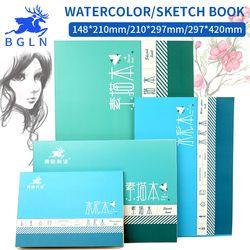 Bgln 1 Pièce Professionnel Aquarelle/Croquis Papier 16/32 Feuilles Peint À La Main soluble dans L'eau Livre Creative Bureau l'école Art Fournitures