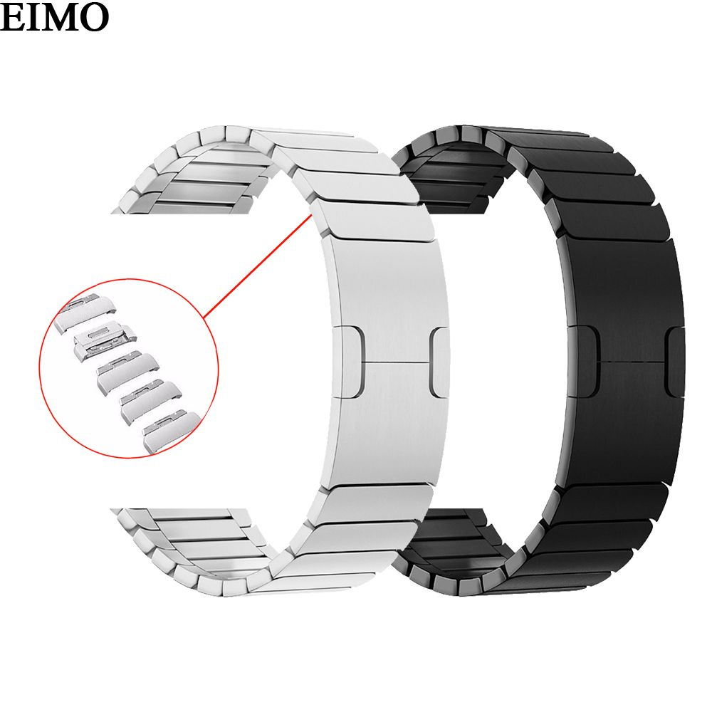 EIMO Strap for Apple Watch Band 44mm 40mm 42mm 38mm Stainless Steel Link Bracelet Wrist Watchband iwatch 4 3 2 1 Removable Bands