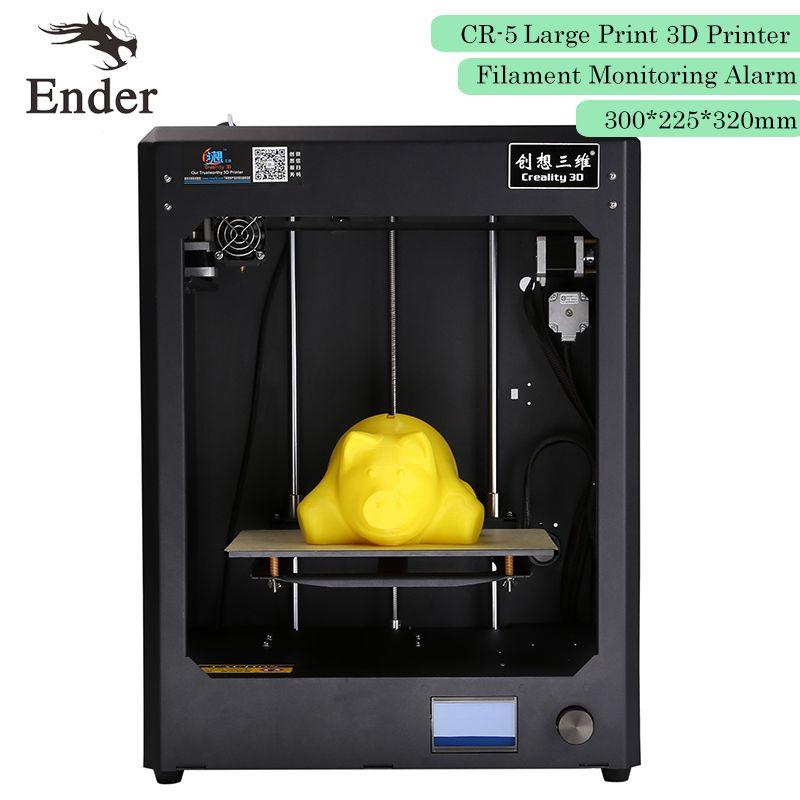 Imprimante 3D entièrement assemblée CR-5 grande taille d'impression 300*225*320mm i3 imprimante 3D 8G carte SD + HotBed